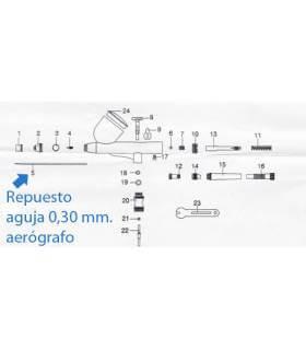 Aguja-de-aerografo