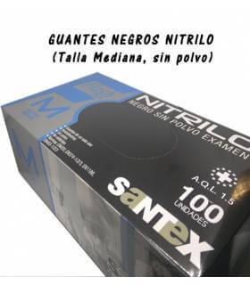 Guantes de Nitrilo Negro (100 und.) - Santex