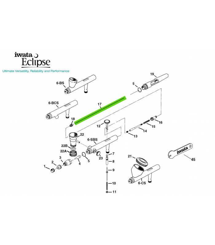 Repuestos para Aerógrafos Iwata Serie Eclipse