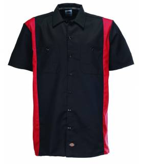 Camisa Dickies Two Tones Black - English Red