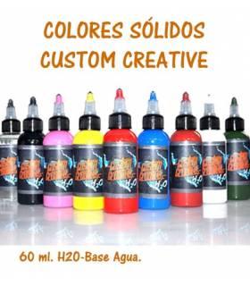 Pintura para aerógrafo - Sólidos - Custom Creative 60 ml.