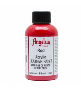 Leather Acrylic Paint Red 4oz. Angelus
